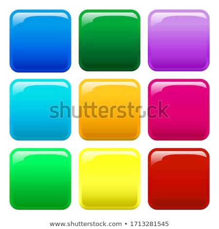 Carré boutons vecteur illustrations Photo stock © SolanD
