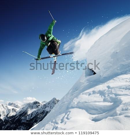 gençlik · kayakçılık · kayakçı · aşağı · dağ - stok fotoğraf © arenacreative