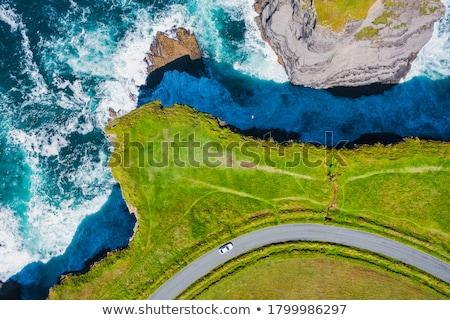 rocky shore of atlantic ocean from ireland stock photo © mady70