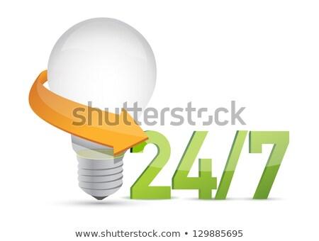 Fikirler 24 hizmet hareketli örnek dizayn Stok fotoğraf © alexmillos