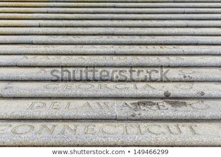 Todo americano grabado pasos parlamento edificio Foto stock © meinzahn