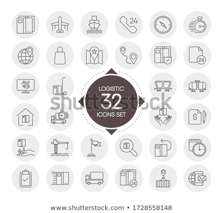 Vector Shipment Icons Set 32 Stock photo © dashadima
