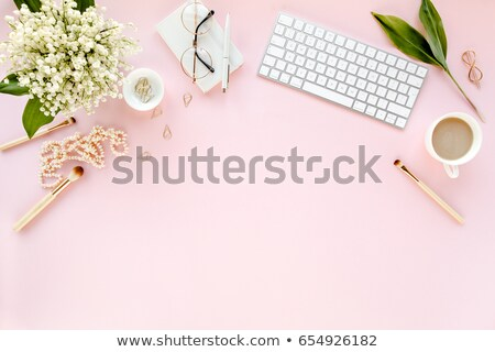 girl with pink lily stock photo © nejron