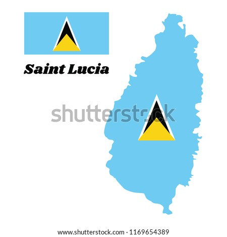 Saint Lucia Small Flag on a Map Background. Stock photo © tashatuvango