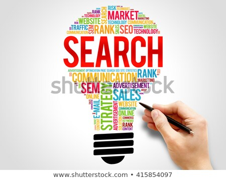 Bulb SEO Idea Search Engine Optimization concept design Stock photo © kiddaikiddee