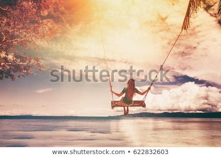 Signora spiaggia tropicale foto perfetto view isola Foto d'archivio © kasto