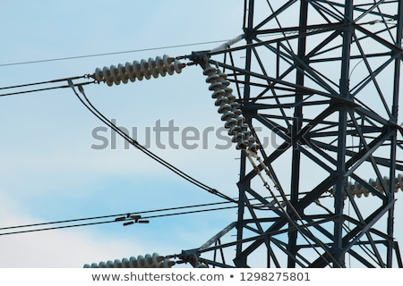 Close up on a power cable with a blue sky background. Stock photo © gemenacom