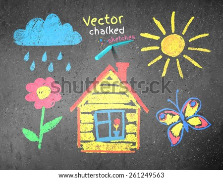 color abstract texture of drawing with chalk Stock photo © jarin13