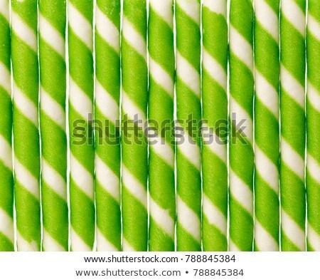 縞模様の ウエハー チョコレート 孤立した 白 ストックフォト © designsstock