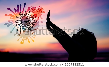 Girl raising hands in praise Stock photo © jarenwicklund