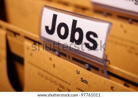 jobs concept with word on folder stock photo © tashatuvango