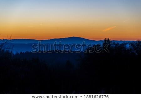 Laat avond licht alpine meer park Stockfoto © wildnerdpix