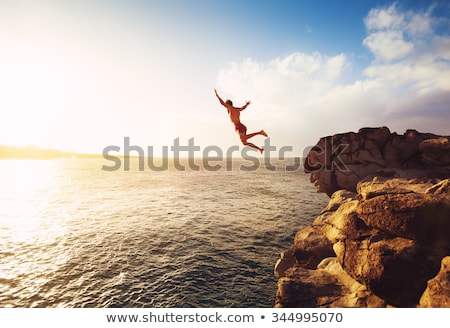Jumping off a cliff Stock photo © bruno1998