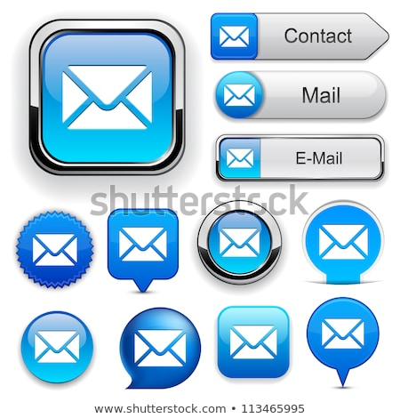 Metal e-mail metin imzalamak mektup beyaz Stok fotoğraf © bosphorus