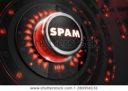 Spam schwarz trösten Kontrolle rot Hintergrundbeleuchtung Stock foto © tashatuvango
