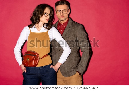 Vogue. Fashionable Couple Posing in Studio Stock photo © gromovataya