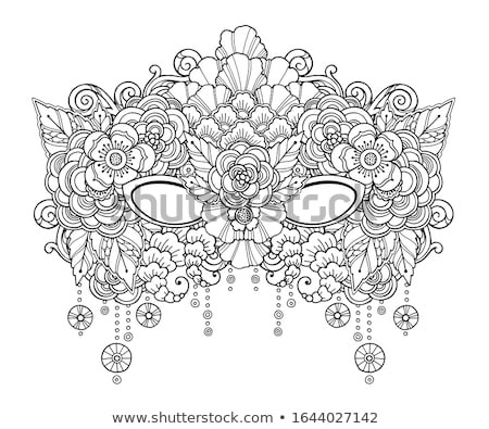 Colored doodle carnival mask Stock photo © netkov1