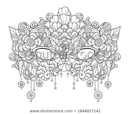 colored doodle carnival mask stock photo © netkov1