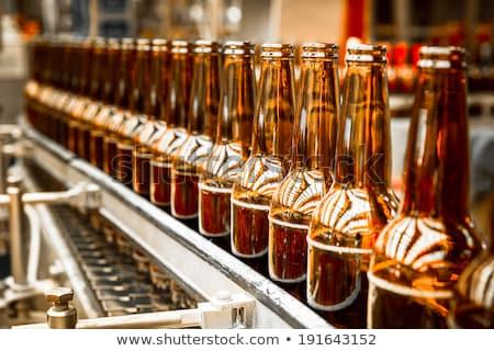 Beer bottles on the conveyor belt Stock photo © mrakor