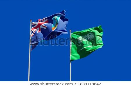 Arábia Saudita bandeiras quebra-cabeça isolado branco negócio Foto stock © Istanbul2009