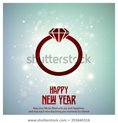 Vector diamond 2016 text  Stock photo © Elisanth