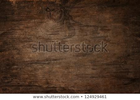 Barna régi fa textúra csomó fa építkezés Stock fotó © tarczas