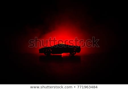 赤 スポーツカー シルエット 画像 光 デザイン ストックフォト © magann