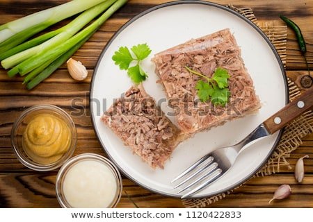 Aspic from meat  Stock photo © fanfo