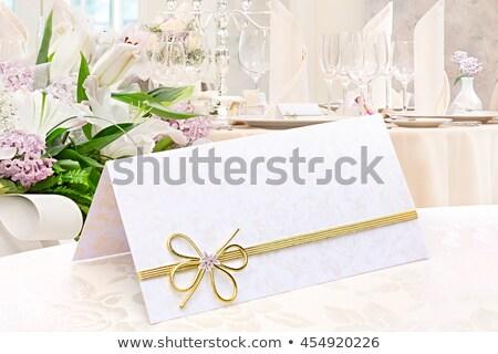 Dekore edilmiş düğün tablo çiçekler zambak Stok fotoğraf © nasonov