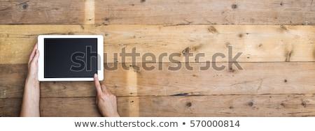 Webdesign houten tafel woord kantoor kind potlood Stockfoto © fuzzbones0