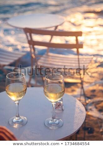 Gün batımı deniz güneş ışık ayna plaj Stok fotoğraf © bank215