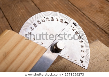 in the woodworker workshop measuring Stock photo © Giulio_Fornasar