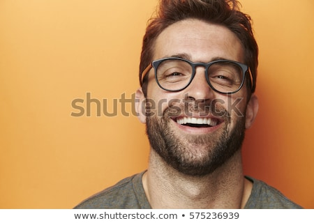 engraçado · homem · olhando · lupa · isolado - foto stock © deandrobot