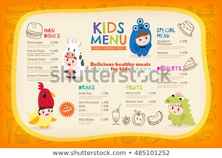Paper template with cute kids in costumes Stock photo © bluering