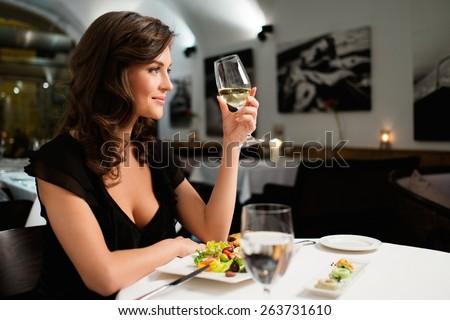 Beautiful woman in the restaurant  Stock photo © wavebreak_media