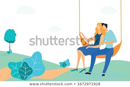 Szerelmi pár férfi boldogság áll szabadidő Stock fotó © IS2