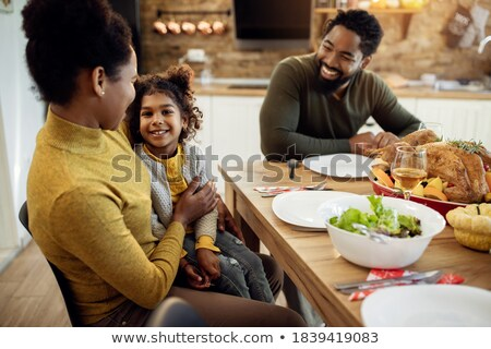 Father and girl looking to camera Stock photo © IS2