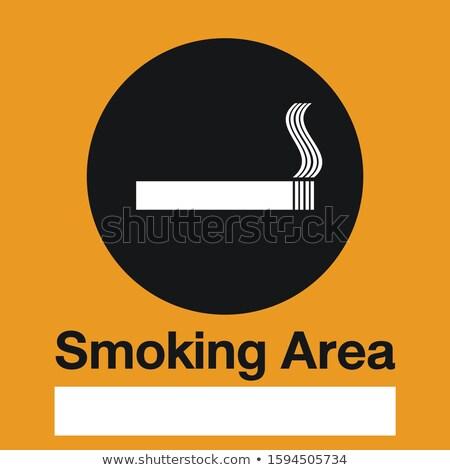 smoking area label smoking area icon vector info sign stock photo © terriana