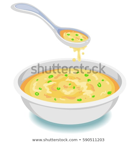 spilled bowl of soup Stock photo © nito