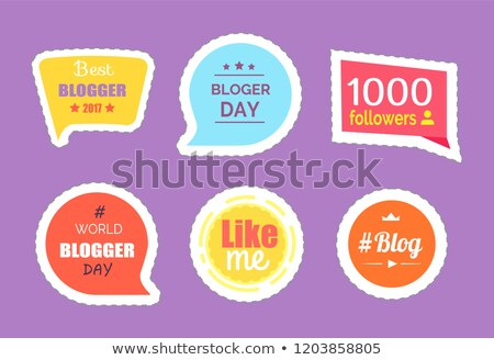 Blogger Day Thought Bubbles and Profile Vector Stock photo © robuart