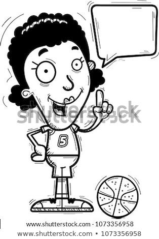 Cartoon nero parlando illustrazione donna nera Foto d'archivio © cthoman