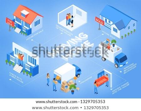 Business caricare buy casa modello home Foto d'archivio © snowing