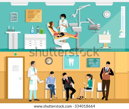 Dental clinic - colorful flat design style illustration Stock photo © Decorwithme