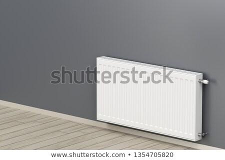Steel and aluminum heating radiators Stock photo © magraphics