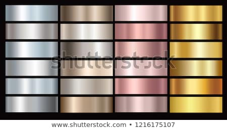 Elegant vector collection of polished metallic smooth textures. Color gradient iron backgrounds. Shi Stock photo © ExpressVectors