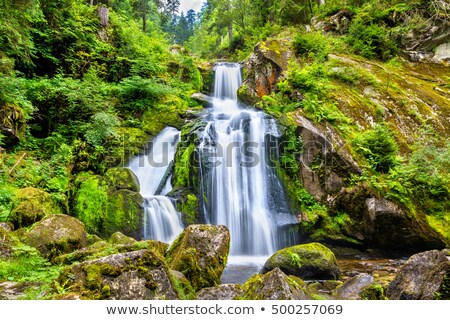 hdr · hegy · folyam · Alpok · Németország · fa - stock fotó © michaklootwijk
