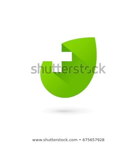 Groene medische kruis grafisch ontwerp sjabloon vector Stockfoto © haris99
