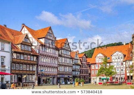 старый город зале Германия дома кадр зима Сток-фото © borisb17