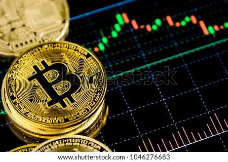 Bitcoin waarde goed uitwisseling business Stockfoto © lightpoet