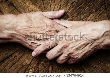 Idős személy imádkozik fa nő nők Stock fotó © Lopolo